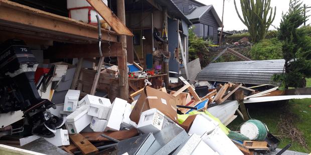 Even a tornado can't budge an Apricus solar collector….